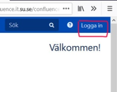 Skärmdump Login